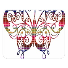 Butterfly Nature Abstract Beautiful Double Sided Flano Blanket (large)  by Nexatart