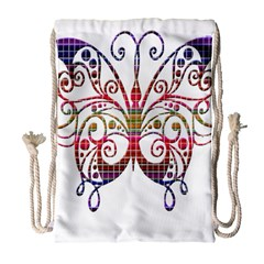 Butterfly Nature Abstract Beautiful Drawstring Bag (large)