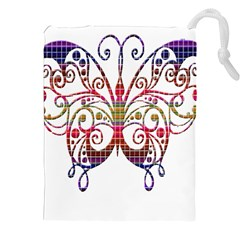 Butterfly Nature Abstract Beautiful Drawstring Pouches (xxl) by Nexatart