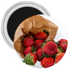 Strawberries Fruit Food Delicious 3  Magnets by Nexatart