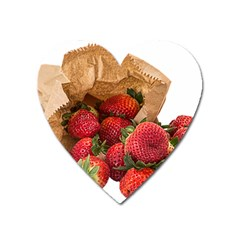 Strawberries Fruit Food Delicious Heart Magnet by Nexatart