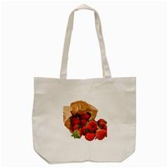 Strawberries Fruit Food Delicious Tote Bag (cream)