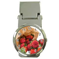 Strawberries Fruit Food Delicious Money Clip Watches by Nexatart