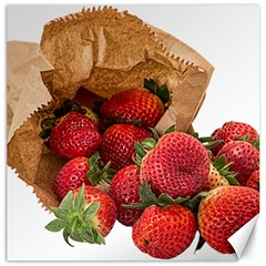 Strawberries Fruit Food Delicious Canvas 12  X 12   by Nexatart
