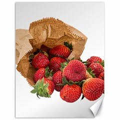 Strawberries Fruit Food Delicious Canvas 18  X 24