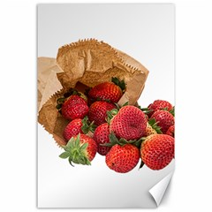 Strawberries Fruit Food Delicious Canvas 24  X 36  by Nexatart