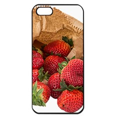 Strawberries Fruit Food Delicious Apple Iphone 5 Seamless Case (black)