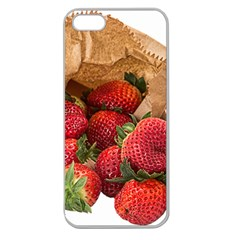 Strawberries Fruit Food Delicious Apple Seamless Iphone 5 Case (clear) by Nexatart