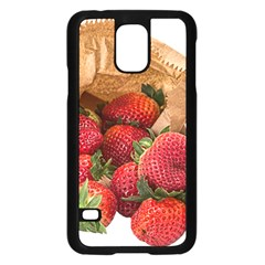 Strawberries Fruit Food Delicious Samsung Galaxy S5 Case (black) by Nexatart