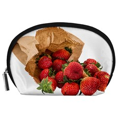 Strawberries Fruit Food Delicious Accessory Pouches (large)  by Nexatart