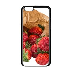Strawberries Fruit Food Delicious Apple Iphone 6/6s Black Enamel Case by Nexatart