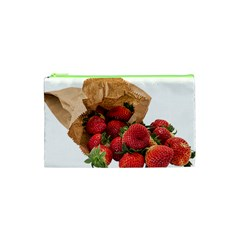 Strawberries Fruit Food Delicious Cosmetic Bag (xs)