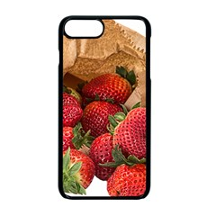 Strawberries Fruit Food Delicious Apple Iphone 7 Plus Seamless Case (black) by Nexatart