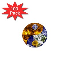 Design Yin Yang Balance Sun Earth 1  Mini Magnets (100 Pack)