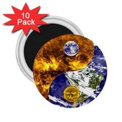 Design Yin Yang Balance Sun Earth 2 25  Magnets (10 Pack)