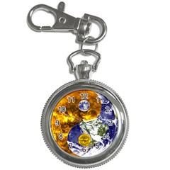 Design Yin Yang Balance Sun Earth Key Chain Watches by Nexatart