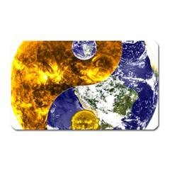 Design Yin Yang Balance Sun Earth Magnet (rectangular) by Nexatart
