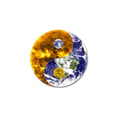 Design Yin Yang Balance Sun Earth Golf Ball Marker (10 Pack) by Nexatart