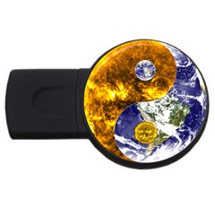 Design Yin Yang Balance Sun Earth Usb Flash Drive Round (4 Gb)