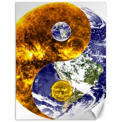 Design Yin Yang Balance Sun Earth Canvas 18  X 24   by Nexatart