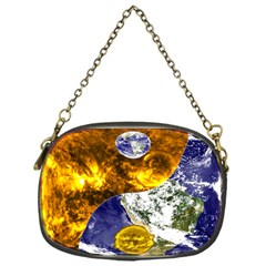 Design Yin Yang Balance Sun Earth Chain Purses (one Side)  by Nexatart