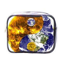 Design Yin Yang Balance Sun Earth Mini Toiletries Bags by Nexatart