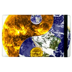 Design Yin Yang Balance Sun Earth Apple Ipad 2 Flip Case by Nexatart