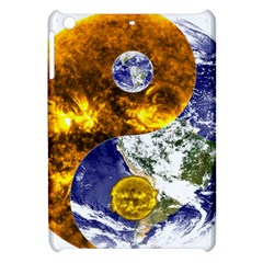 Design Yin Yang Balance Sun Earth Apple Ipad Mini Hardshell Case by Nexatart