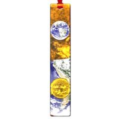 Design Yin Yang Balance Sun Earth Large Book Marks by Nexatart