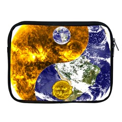 Design Yin Yang Balance Sun Earth Apple Ipad 2/3/4 Zipper Cases by Nexatart