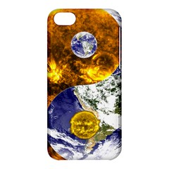 Design Yin Yang Balance Sun Earth Apple Iphone 5c Hardshell Case by Nexatart