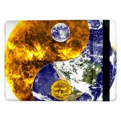 Design Yin Yang Balance Sun Earth Samsung Galaxy Tab Pro 12 2  Flip Case