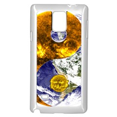 Design Yin Yang Balance Sun Earth Samsung Galaxy Note 4 Case (white)