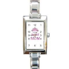 Crazy Pageant Mom Rectangle Italian Charm Watch by Valentinaart