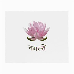 Namaste   Lotus Small Glasses Cloth (2 Side) by Valentinaart