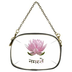 Namaste   Lotus Chain Purses (one Side)  by Valentinaart