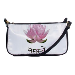 Namaste   Lotus Shoulder Clutch Bags by Valentinaart