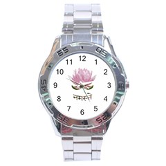 Namaste   Lotus Stainless Steel Analogue Watch by Valentinaart