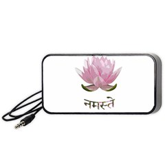 Namaste   Lotus Portable Speaker (black) by Valentinaart