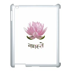 Namaste   Lotus Apple Ipad 3/4 Case (white) by Valentinaart