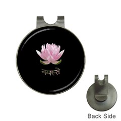 Namaste   Lotus Hat Clips With Golf Markers by Valentinaart