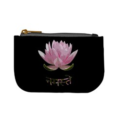 Namaste   Lotus Mini Coin Purses by Valentinaart
