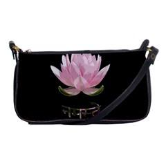 Namaste   Lotus Shoulder Clutch Bags by Valentinaart