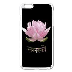 Namaste   Lotus Apple Iphone 6 Plus/6s Plus Enamel White Case by Valentinaart