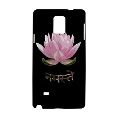 Namaste   Lotus Samsung Galaxy Note 4 Hardshell Case by Valentinaart