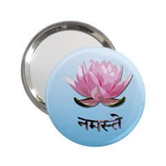 Namaste   Lotus 2 25  Handbag Mirrors by Valentinaart