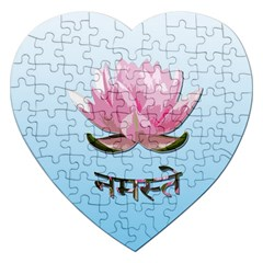 Namaste   Lotus Jigsaw Puzzle (heart) by Valentinaart
