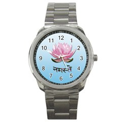 Namaste   Lotus Sport Metal Watch by Valentinaart