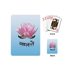 Namaste   Lotus Playing Cards (mini)  by Valentinaart