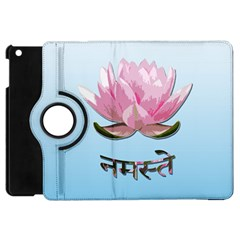 Namaste   Lotus Apple Ipad Mini Flip 360 Case by Valentinaart